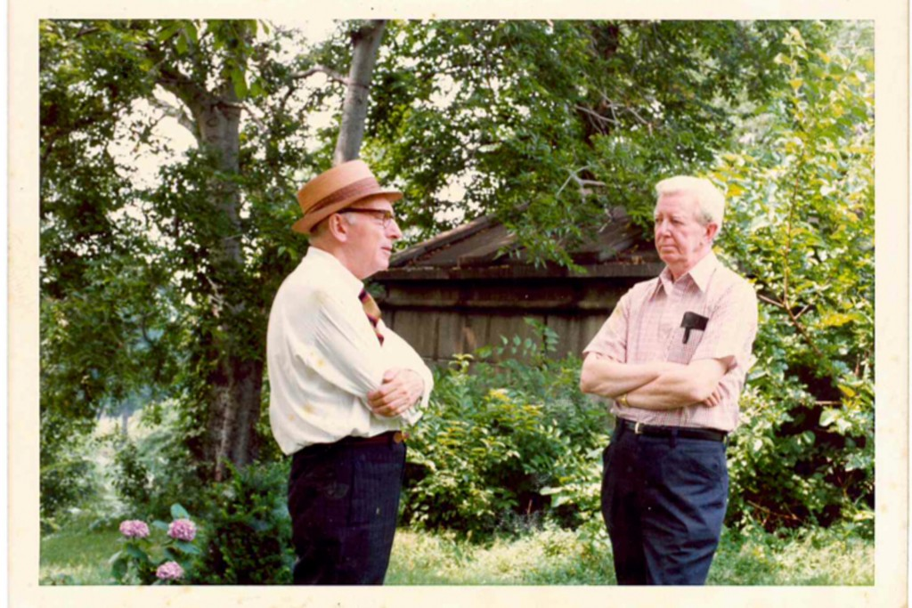 Joseph Mitchell with the author's father