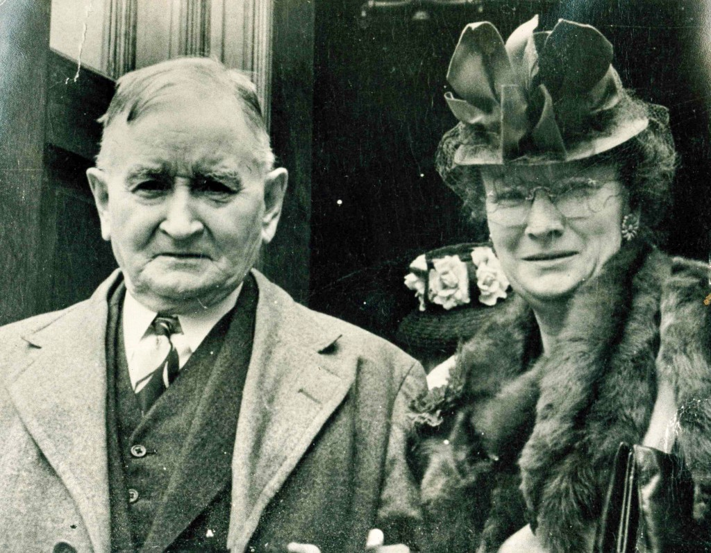 Patrick Carroll's Grandfather, Patrick Fardy, pictured with Aunt Catherine