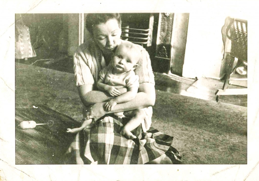 The author as a baby with his mother, Ann