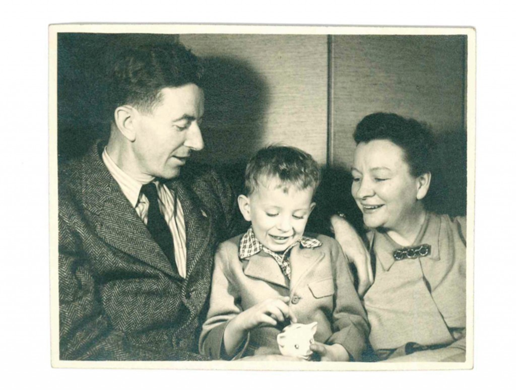 The author with his mother and father, taken by Therese Mitchell