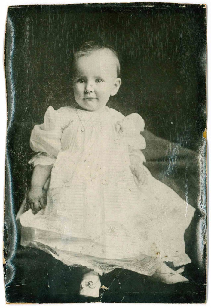 The author's mother, Ann, as a baby