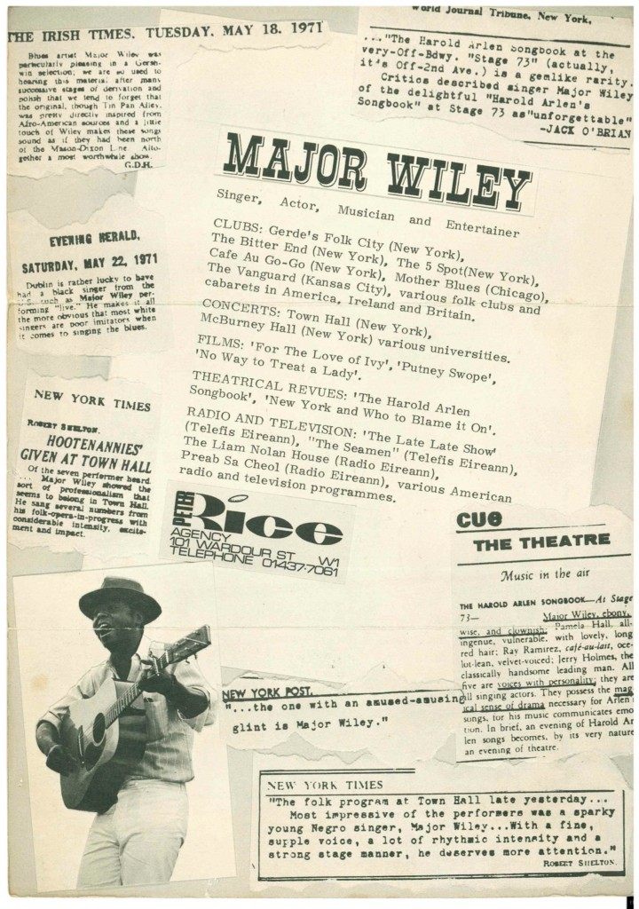Major Wiley poster