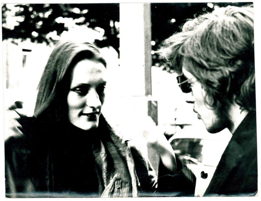 Anthea Joseph c1968 in Dublin with guitarist/songwriter Humphrey Weightman